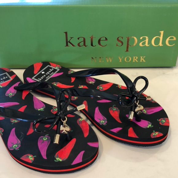 d270340a8a0b kate spade Shoes - Kate Spade ♤ Chili 🌶 Pepper Flip Flops-NWOT